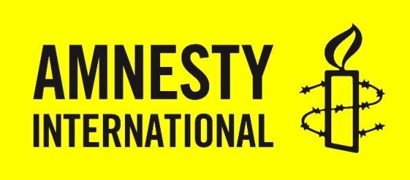 Amnesty Inter_logo noir sur jaune